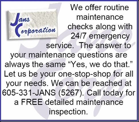Jans Corporation Maintenance